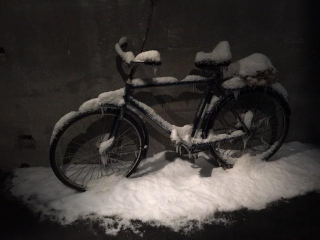 Velo et neige
