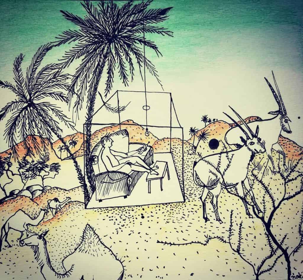 Des hommes en boîte 2, dessin de Noémie Boullier
