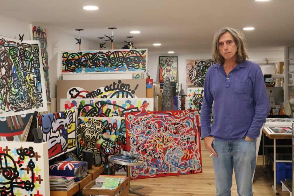 Jofo dans son atelier
